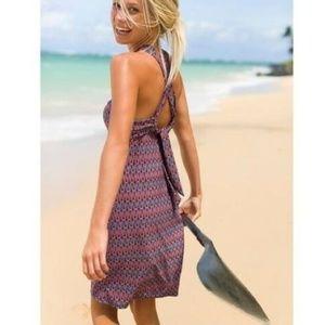 Athleta Kiki Swim DressThistle Purple Print Small